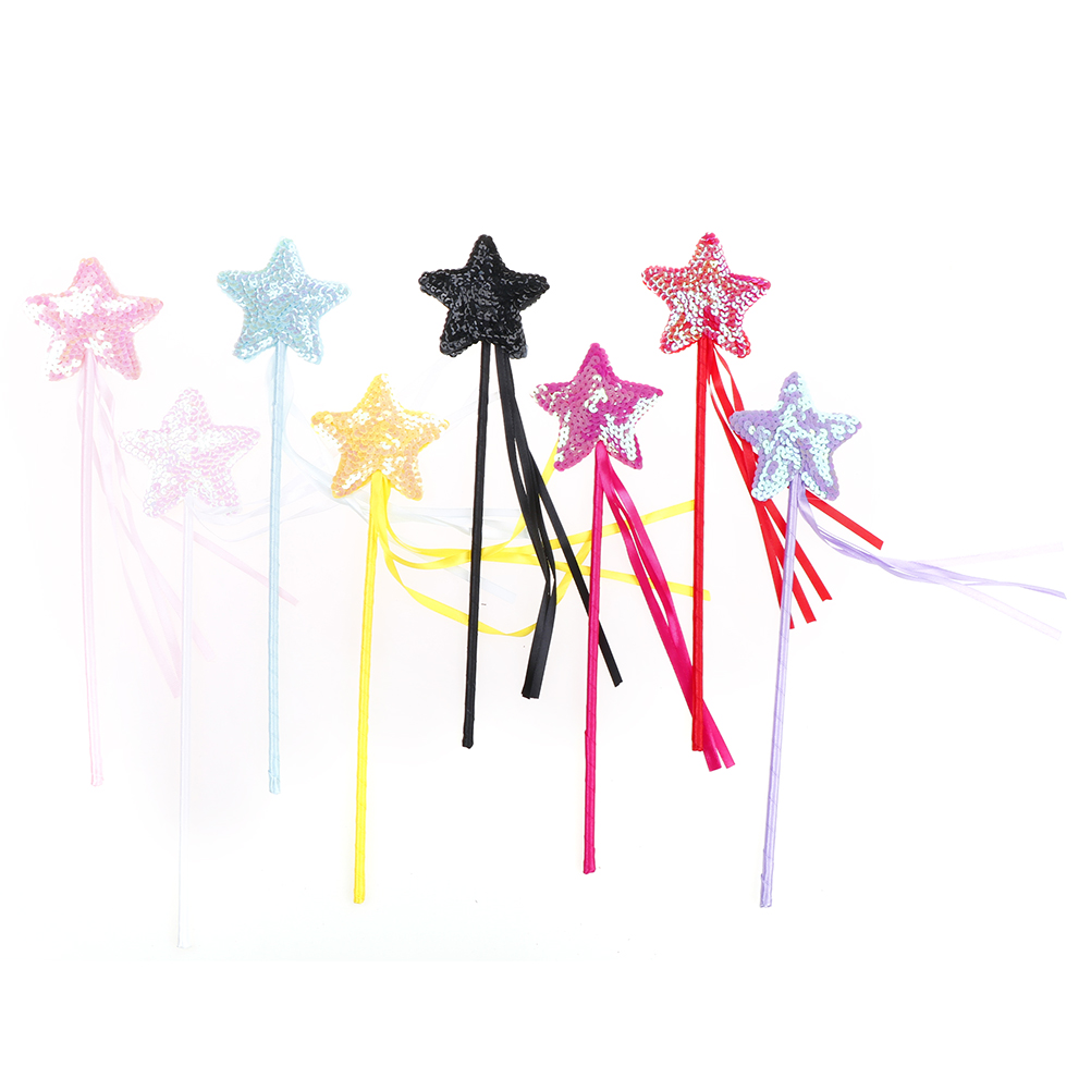 Handmade Five Pointed Star Fairy Wand Magic Stick Girl Party Princess Favors DIY Party Decorations