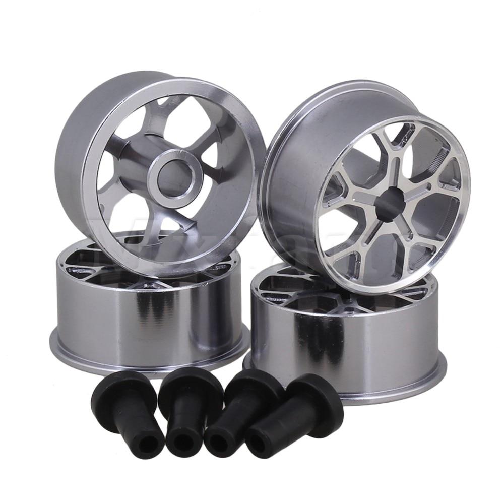 Mxfans 4Pieces Silver Y-Shape 5 Hole Wheel Rim for Tamiya RC1:32 4WD Car <br><br>Aliexpress