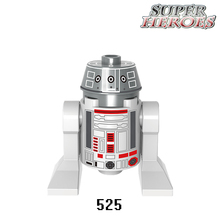 Educational Blocks Robot R4-90 R2-D2 C-3PO Star Wars Batman Super Heroes Deadpool Model Building Bricks Kids DIY Toys Hobbies - Five-Stars Store store