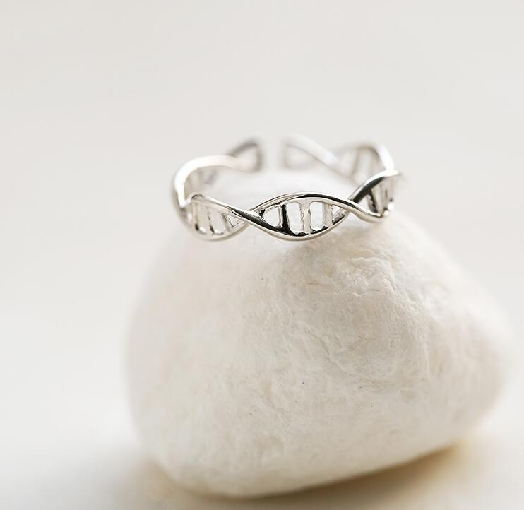 New Fashion DNA ring for women Chemistry Molecule rings Double Helix  Ring Minimalist Ring