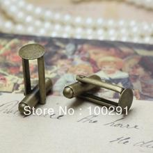 FreeShipping!!! Wholesale 200pcs/lot Brass Round 8mm pad Cuff links findings French cuff links jewelry