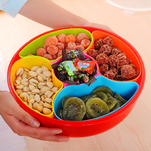 Plastic food containers fruit lattice with cover tray Candy box Festival snacks dried melon seed tray plate