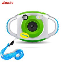 2018 AMKOV 5MP HD Camera Mini Camera Cute Kid Creative Neck Camera Photography Portable Support Microphone Recording 32GBSD Card(China)