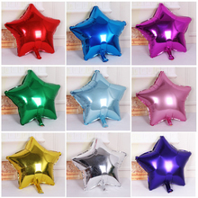 10pcs 10 inch Helium Balloon star Wedding Large aluminum Foil Balloons Inflatable gift Birthday baloon Party Decoration Ball(China)