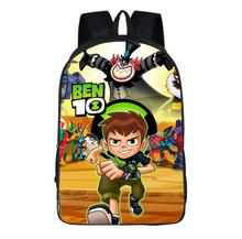 16 Inch Ben 10 Boy Cartoon Shoulder Bag Students School Bag #2073 Kids Backpack Travel Bag Teenagers Boys Girls