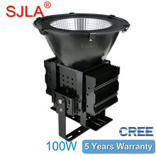 Waterproof Pier Basketball Stadium Football Field Golf Harbour Airport Outdoor Lighting Floodlight IP65 100W Led High Bay Light