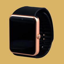 2017 smart watch with camera Sim card slot GSM Phone smart connectivity for apple iphone Android Phone app Smartwatch gold GT08(China)