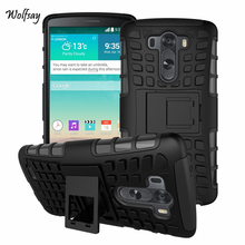 For LG G3 Case D855 D850 D851 Heavy Duty Shockproof Armor Hard Silicone Rugged Rubber Phone Case For LG G3 Cover With Stand *<