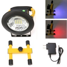 1pc 3 Modes 24LED Floodlight 30W Portable IP6 Rechargeable Cordless Flood Light Emergency for Car Traveling Camping Fishing Use(China)