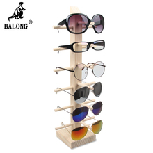 Nature Environmental protection wood 4/5/6pair  glasses display rack display holder tree rack display stand for Sun Glasses