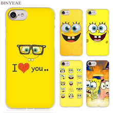BINYEAE Sponge Bob Clear Cell Phone Case Cover for Apple iPhone 4 4s 5 5s SE 5c 6 6s 7 7s Plus