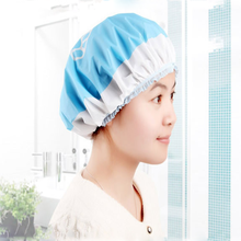 2 Pcs 27 Cm Cartoon Waterproof Shower Caps Environmental Protection Lace Elastic Band Hats Women Bath Spa Bathroom Products 2018(China)