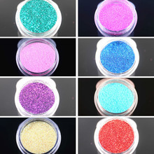 Super Shiny NS2NR2 Glitter Nail Art Dust Tool Kit Acrylic Gem Polish Nail Tools 3D Nail Art Decorations Nail Glitter Powder(China)