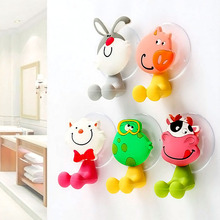 5Pcs/lot Baby Care Grooming & Healthcare Kits Cute Cartoon Sucker Suction Hooks Set Hanging Baby Toothbrush Holder Towels Etc.