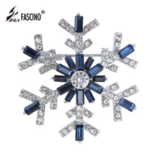 2017 New Year Gifts Snowflake Brooches Women Garment Accessories Crystal Rhinestone Scarf Pins Brooches Jewelry (AS860002)