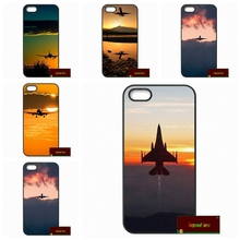 Plane With Sunset Glow Theme Cover case for iphone 4 4s 5 5s 5c 6 6s plus samsung galaxy S3 S4 mini S5 S6 Note 2 3 4 F0274(China)