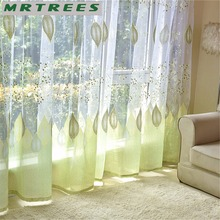 Modern Window Tulle Curtains for Living Room Bedroom Sheer Curtains for The Kitchen Finished Tulle Curtains for Window Drapes(China)