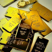 New Super Hot FINE GOLD 999.9 NET WT 1000g Gold Bar Bullion Design Phone Cases For Apple iPhone 6 s Plus 6plus Mobile Cover case