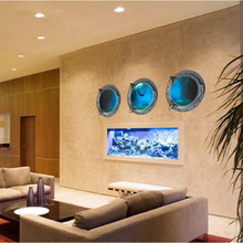 Hot wall stick a new living room bedroom furniture furniture decorative wallpaper blue underwater adventures(China)
