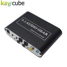Kaycube  	5.1 AC3 DTS HD Audio Gear Sound Decoder Stereo Digital Audio Converter LPCM To 5.1 Analog Output 2.1 DVD PC Free Ship