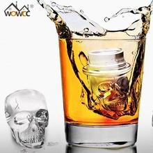 Skull Shape Silicone Ice Cube Whiskey Cocktail Ice Ball Mold Maker Tray Halloween Party Spooky Fun  Bar Tool Bar Ice Cream Mold