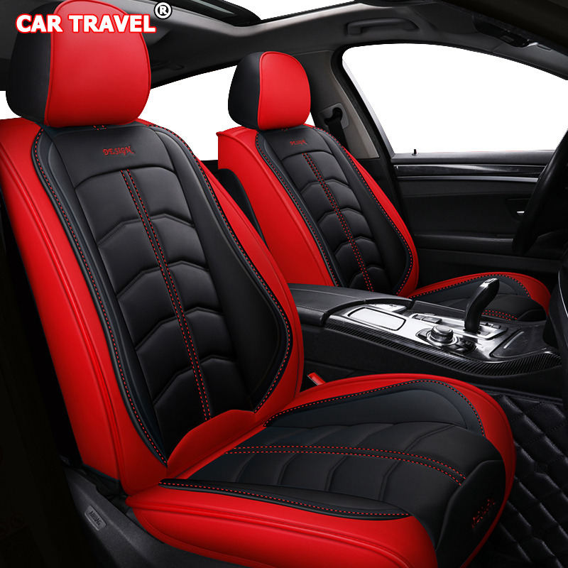 11+ 2 X CLIP OXFORD LUXURY FULL SEAT COVER SET RED FORD FIESTA MK7