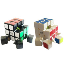 QiYi Sail 3X3X3 Magic Cube Professional Speed Cube Ultra-smooth Square Cube Puzzle With Sticker Kids Learning Toys Birthday Gift(China)