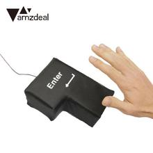 AMZDEAL Fun Sponge Enter Key Decompression Office Multifunction USB 2.0 Stress Reducing Enter Key Type Model Pillow(China)