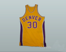 Throwback Basketball Jersey 1973-74 Denver 25 30 Custom Stitched Purple Yellow Basketball Jersey Free Shipping Viva Villa(China)