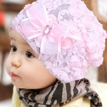 New lace baby hat for Girls,newborn props for photography,fashion kids flower cap infant beanies baby,kids summer hats #JH003