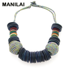 MAINILAI Handmade Beach Bohemian Statement Necklace For Women 2017 New Design Choker Coconut shell Collar Necklace Bijoux Femme