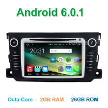 8 Core Android 6.0.1 Car DVD Video Player for Mercedes/Benz Smart Fortwo 2012 2013 2014 with Radio BT Wifi GPS 2GB RAM