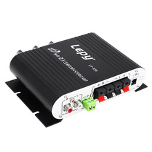 Lepy LP-838 Power Amplifier Hi-Fi 2.1 MP3 Radio Audio Stereo Bass Speaker Booster Player for Car Motorbike Home No Power Plug