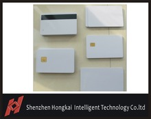 20pcs Free sipping Pvc blank chip card with magnetic stripe, contact 4428 chip card