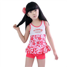GI FPREVER Plus Size Children's Swimwear Small Floral Two Pieces Suit 2017 Summer Girl Cute Swimsuit Bathing Suit Maillot De Bai(China)