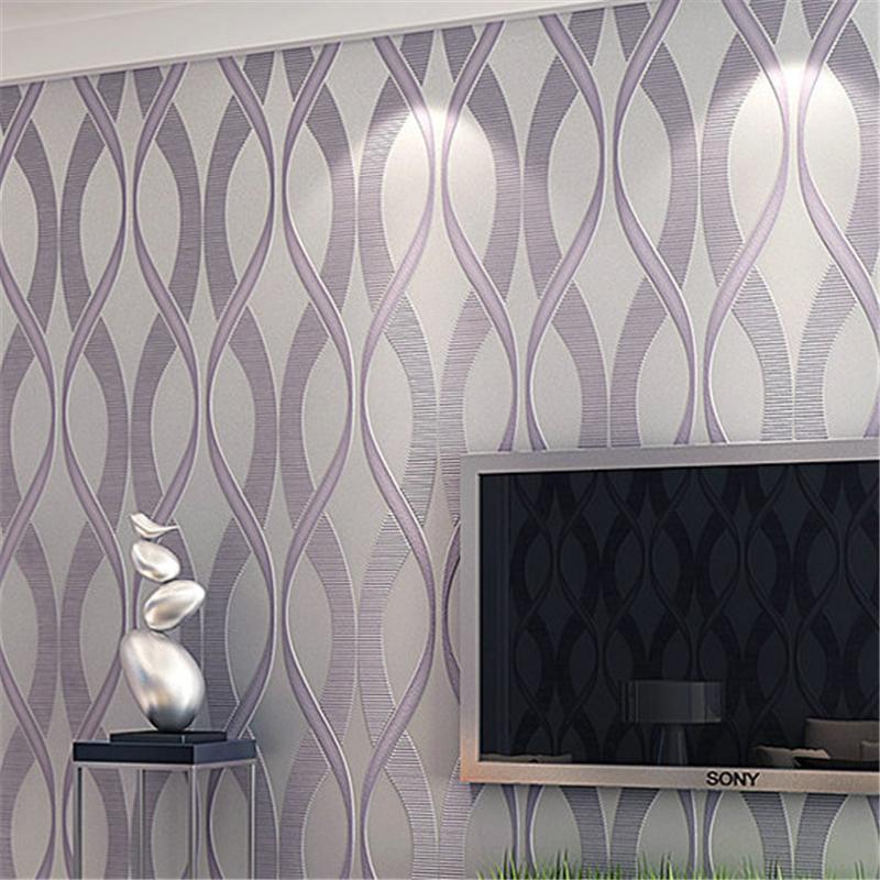 Modern simple 3D stereo green stripes warm bedroom study TV background wall living room wallpaper<br><br>Aliexpress