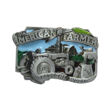 Fashion Brand Cowboy Belt Buckle Diy 3D American Farmer Badge Metal Buckle Boy Mens Luxury Designer Belt Buckles Lover Gift(China)