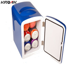 Mini Car Fridge Portable 12V 4L Auto Refrigerator Quality ABS Multi-Function Cooler Freezer Warmer for Travel Home Camping(China)
