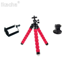 3 In One Mini Flexible Octopus Tripod + Phone Holder Bracket Holders Stand for Gopro Hero 3 3+ SJ4000 5000 for iPhone Cellphone