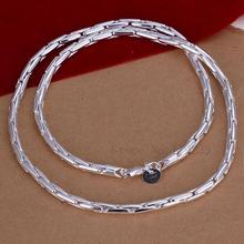 LN059 High Fashion Silver Thin Chain Necklace Women Brand Jewellery Items Hot Selling Collier Wholesale & Retail Bijoux(China)