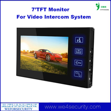 "Indoor 7""TFT Colorful HD Touch Screen Monitor For Security Video Camera Door Bell Doorphone Intercom System"