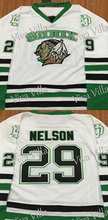 29 Brock Nelson Fighting Sioux 9 Jonathan Toews 16 Brock Boeser 33 Chyzyk 7 TJ Oshie North Dakota Fighting Sioux Hockey Jersey(China)