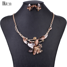 MS1504620 Fashion Jewelry Sets Hight Quality 4 Colors Necklace Sets For Women Jewelry Crystal Resin Unique Flower Design Gifts