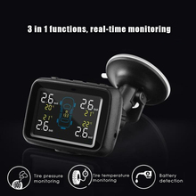 CAREUD U901 Auto Truck TPMS Car Wireless Tire Pressure Monitoring System+4 Replaceable Battery Sensors LCD Display