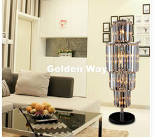 Free Shipping D35cm H120cm K9 Crystal Modern Crystal Table Lamp Luxury Lustres De Cristal Table Lamp Floor Lamp Bedside Lighting(China)