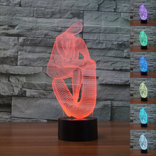 Abstract People 3D Optical Visual Lamp Human figure Nightlight 7 Color Changing Holiday Mood light Kids Bedside Lampe Home Decor
