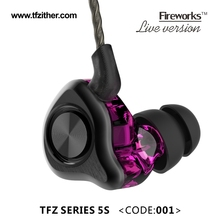 The Fragrant Zither TFZ SERIES 5S With Silver Plated Cable Purple Version Special Custom Edition Sport Earphone Bass Earphone