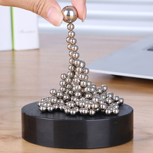 Magnetic Sculpture creative educational toys decompression vent Magic Ball strange new Desktop ornaments birthday gift for men(China)