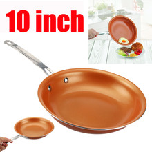 10 Inches Sweettreats Non-stick Copper Frying Pan With Ceramic Coating And Induction Cooking Oven Dishwasher Safe(China)