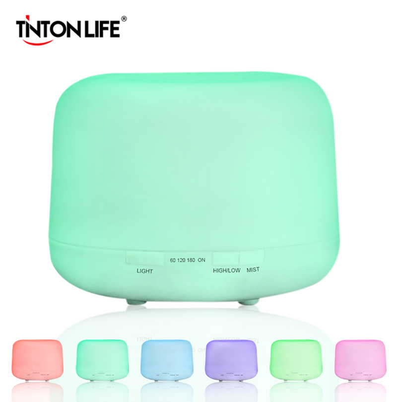 TINTON LIFE Styles Colorful Humidifier 4 in 1 Functions Led Light Mist Maker 500ML Can Be Timed for Home Decoration <br>